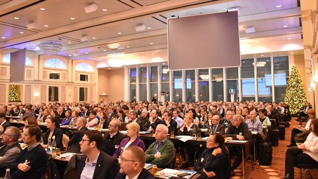 Blick in den Konferenzsaal des Marriott Hotels
